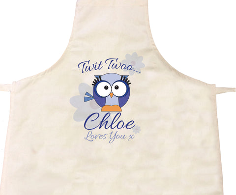 BB21 - Owl Personalised Apron