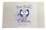 BB21 - Owl Personalised White Pillow Case Cover