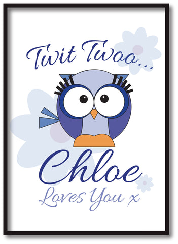 BB21 - Owl Personalised Print