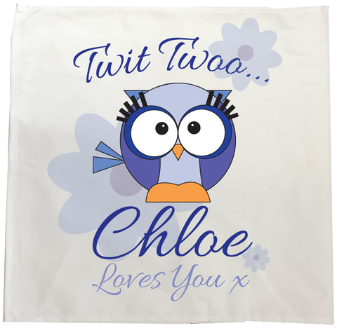 BB21 - Owl Personalised Tea Towel