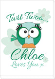 BB21 - Owl Personalised Canvas Print