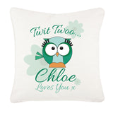 Owl Personalised Canvas Cushion Cover