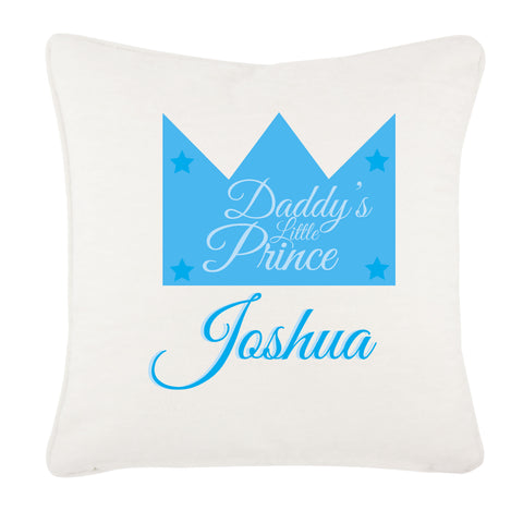 Daddy's Prince/Princess Personalised Canvas Cushion Cover