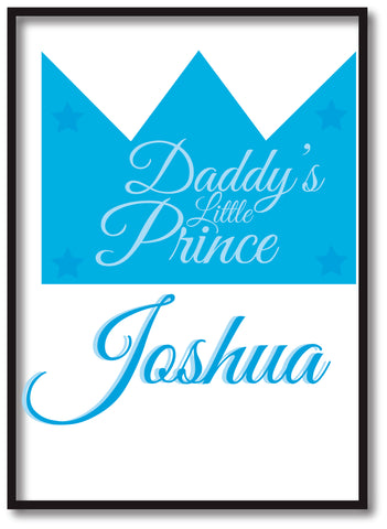 BB23 - Daddy's Prince/Princess Personalised Print