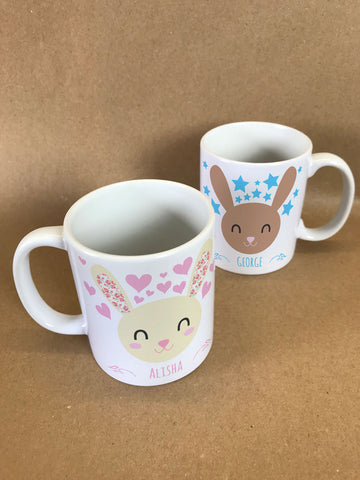 BB25 - Happy Bunny Mug & White Gift Box
