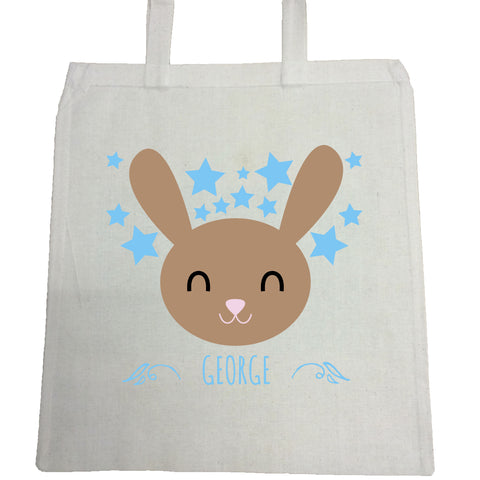 BB25 - Happy Bunny Personalised Canvas Bag for Life