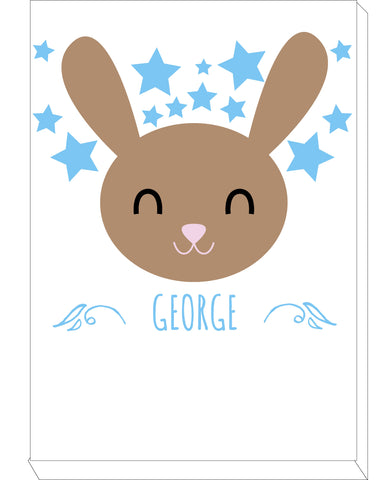 BB25 - Happy Bunny Personalised Canvas Print