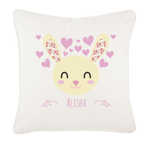 BB25 - Happy Bunny Canvas Cushion Cover