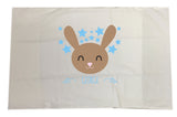BB25 - Happy Bunny White Pillow Case Cover