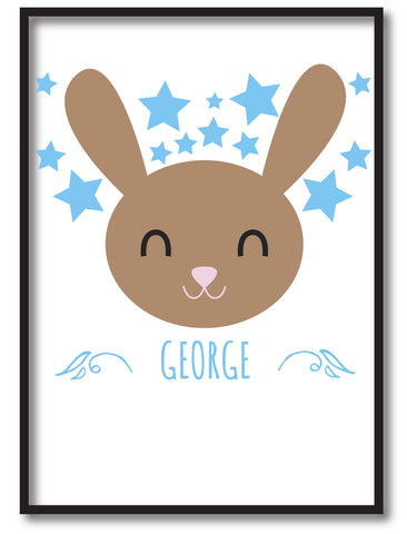 BB25 - Happy Bunny Personalised Print