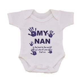 CB10 - My Mum/Nan is the best in the world! Lots of Love (Name(s)) xx Personalised Baby Vest