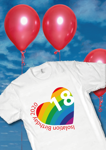 Isolation Birthday T Shirts for Adults and Children - Covid 19 Isolating