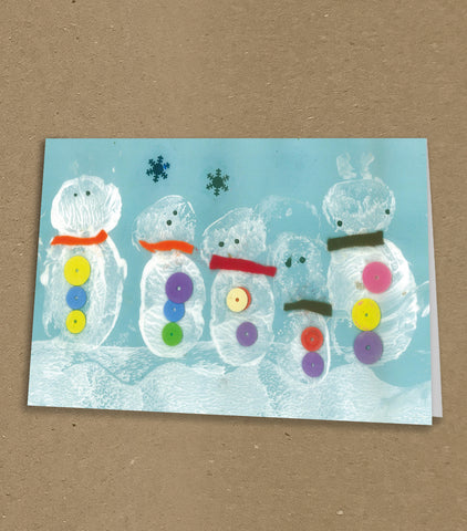 Burtonwood CP School Personalised Christmas Cards with Child's Drawing