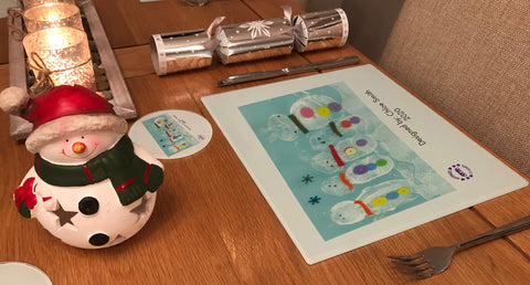 Burtonwood CP School Personalised Placemats & Coasters with Child's Drawing