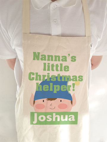 CA02 - Nanna's Littler Christmas Helper Personalised Apron