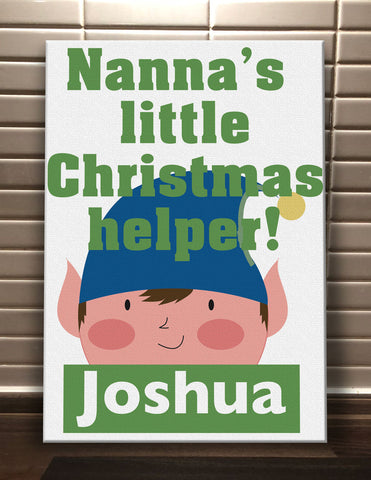 CA02 - Nanna's Littler Christmas Helper Personalised Canvas