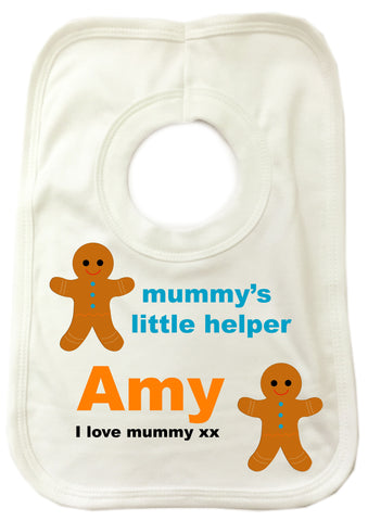 CB08 - Mummy's Little Helper Personalised Baby Bib