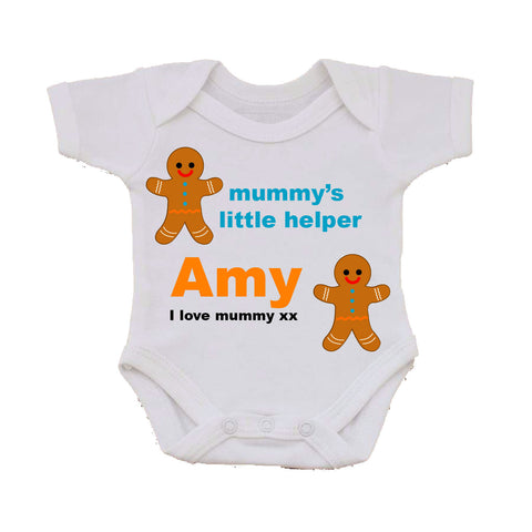 CB08 - Mummy's Little Helper Personalised Baby Vest