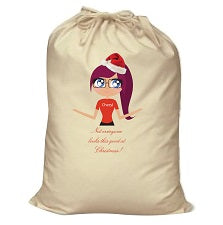 CA15 - Not everyone looks this good at Christmas Personalised Canvas Santa Sack