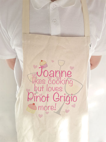 CA21 - Personalised Loves Pinot Grigio Apron