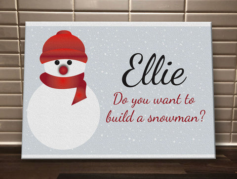 CA05 - Do You Want to Build a Snowman Christmas Personalised Canvas Print