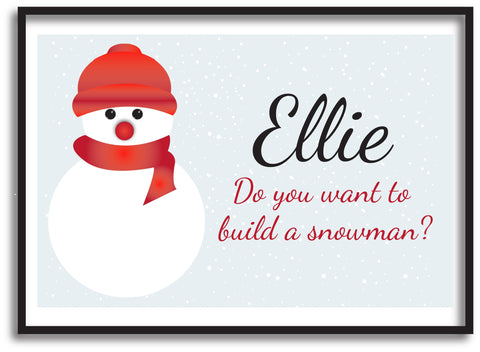 CA05 - Do You Want to Build a Snowman Christmas Personalised Print