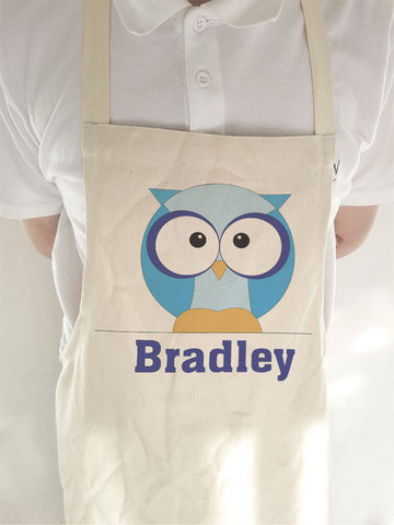 CB03 - Boys One Owl Personalised Apron