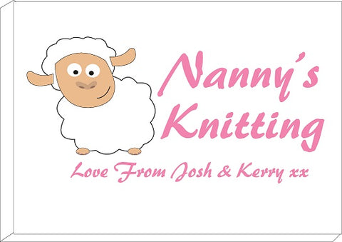 CB09 - Mummy's/ Nanny's Knitting Love From Name or Names Personalised Print
