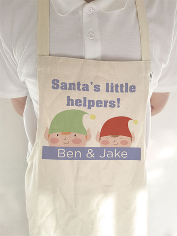CC04 - Personalised Christmas Santa's Little Helpers with Children's Names Apron