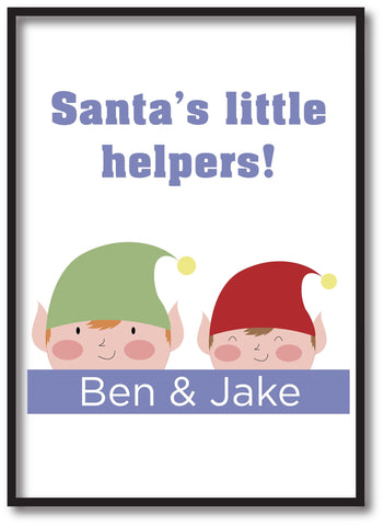 CC04 - Personalised Christmas Santa's Little Helpers with Children's Print