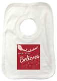 CC05 - Personalised Christmas Name inserted Still Believes in Black or Red Baby Vest