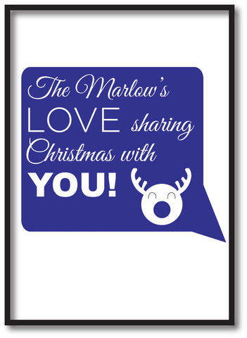 CC09 - Personalised The (Your Family Name) Love Sharing Christmas With You Print