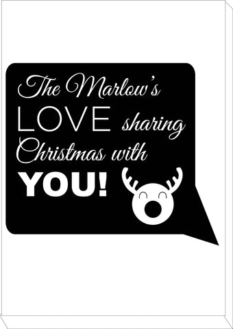 CC09 - Personalised The (Your Family Name) Love Sharing Christmas With You Canvas Print