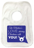 CC09 - Personalised Your Family Name Love Sharing Christmas With You Baby Vest