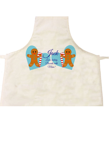CM04 - Personalised Ginger Bread Cookies Christmas Boys Apron
