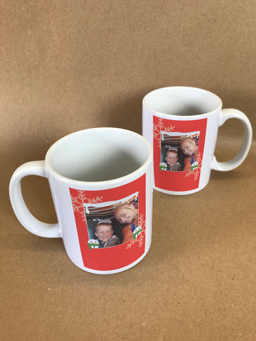 CM13 - Personalised Your Photo & Round Snowman Christmas Mug & White Gift Box