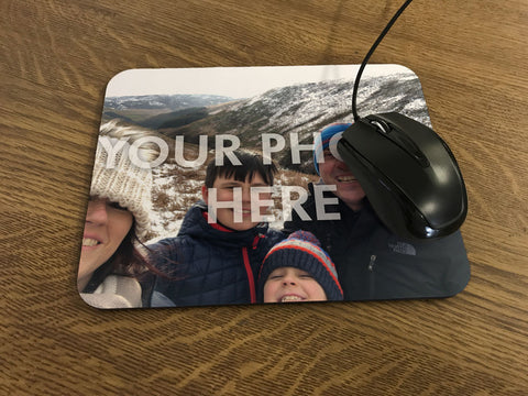 HF16 - Personalised Photo Computer Mousemat - Create your own