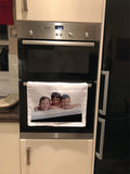 CT01 - Personalised Your Photo Canvas Tea Towel