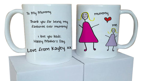 MO05 - To My Mummy Personalised Mug & White Gift Box