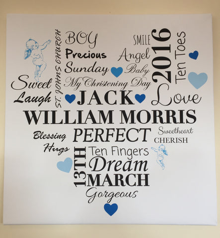 BC01 - Personalised Boys Heart Canvas