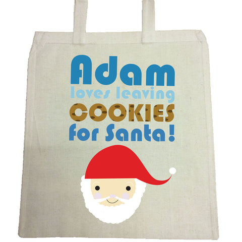 CA07 -Personalised Christmas (Name) Loves Cooking/Leaving Cookies For Santa Canvas Bag for Life