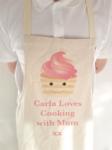 CA08 - Personalised (Name) Loves Cooking with Mum/Nan xx Cooking Apron