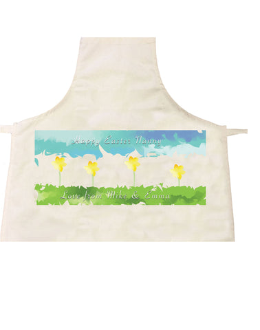 EA10 - Personalised Aztec Easter Daffodil Apron