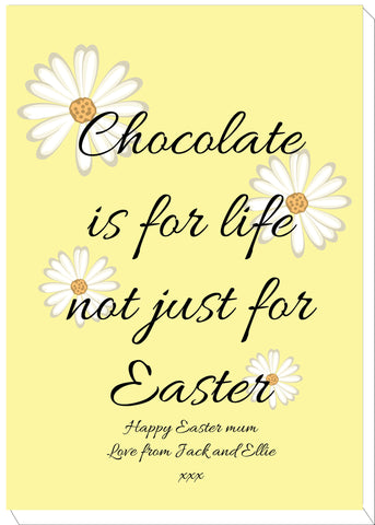 EA14 - Personalised Easter Chocolate is for Life Canvas