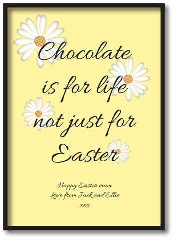EA14 - Personalised Easter Chocolate is for Life Print