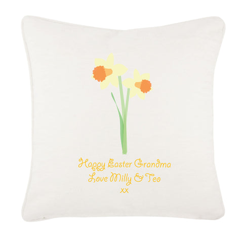 Personalised Daffodils Cushion Cover