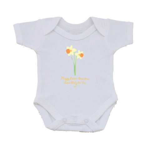 EA16 - Daffodils Easter Baby Vest