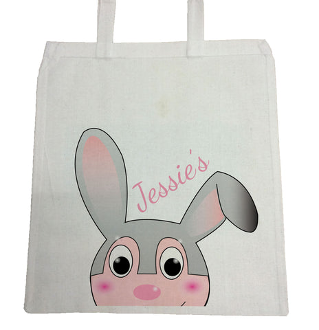 EA17 - Personalised Easter Jessica Rabbit Canvas Bag