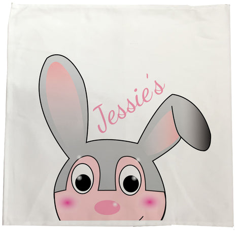 EA17 - Personalised Easter Jessica Rabbit Canvas Tea Towel