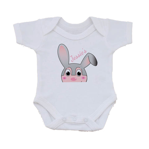 EA17 - Personalised Easter Jessica Rabbit Baby Vest
